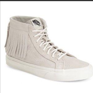 Vans Sk8 Hi Fringe Sneakers- Size 9